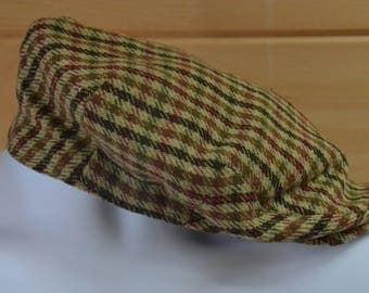 Vintage Christys' London Grand Prix 100% Wool Balmoral Flat Cap Size 7.5 UK 7 5/8 US