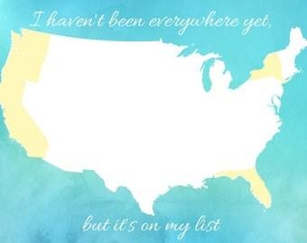 Custom States Traveled Print