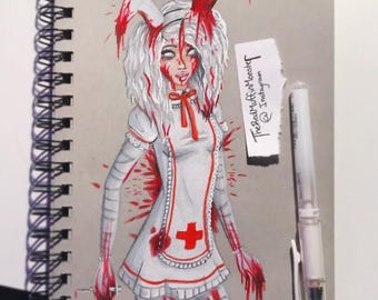 Bloody Girl Print