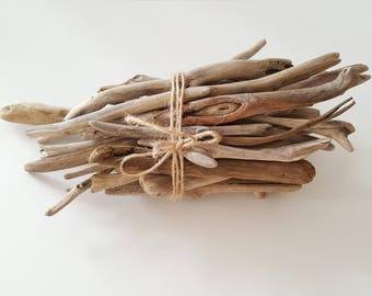 30 Driftwood branches, Vase filler,Driftwood Art Supplies, Decorative Driftwood 3.7'' - 9.5''