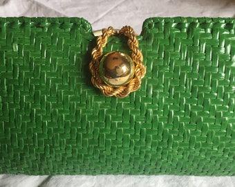 Habeeb bag in green straw