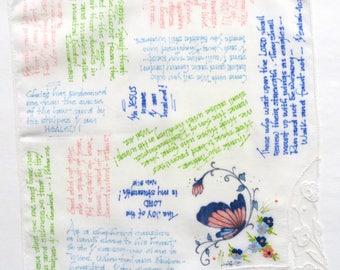 HEALING--Prayer Cloth on Vintage Hankie