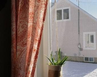 Jute and cotton plant pot holder