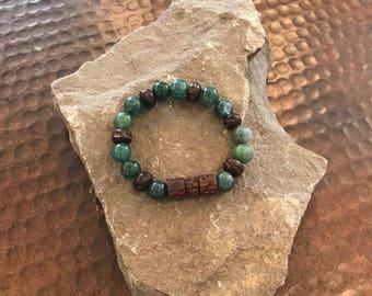 Gemstone / Wood Beaded Bracelet