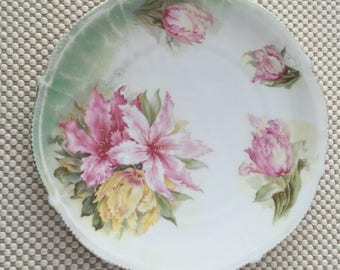 Flower cake plate