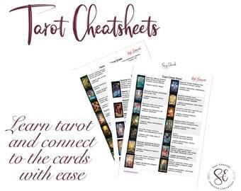 Tarot Cheat Sheets - learn tarot, tarot tools