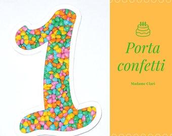 Polystyrene Confetti Door Number 1