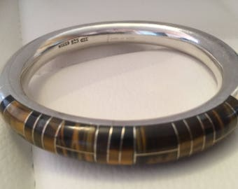 Vintage Taxco Sterling Silver Bangle