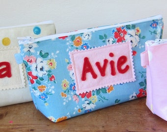 Handmade Personalised Oilcloth Pencil Case