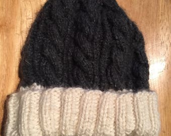 Handmade Knit Cable Hat