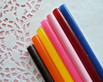 10 x Coloured hot glue 7 mm-Hot colored gluteus