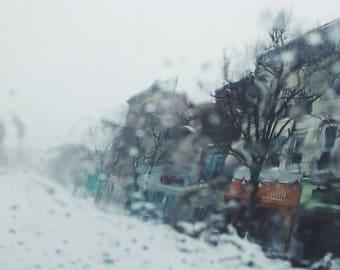 Wintery Main Street