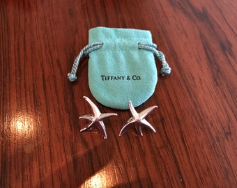 Authentic Tiffany & Co Elsa Peretti Starfish Earrings