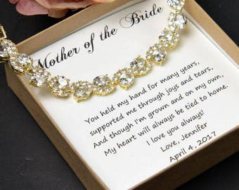 Mother of the Bride Gift mom gift mother of the bride Wedding jewelry Mother of the bride Wedding Bracelet Mother of the Bride Bracelet