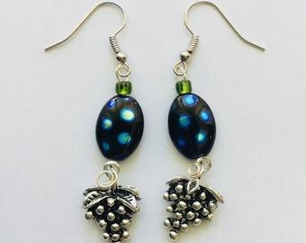 Wine Lover Grape Earrings