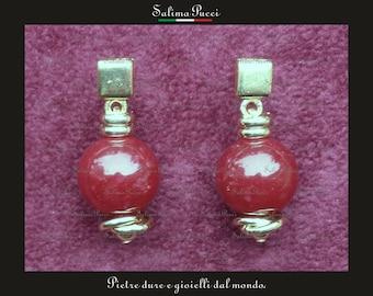 Ruby root earrings, gemstone earrings, pendants, stone jewelry ear rings Gift