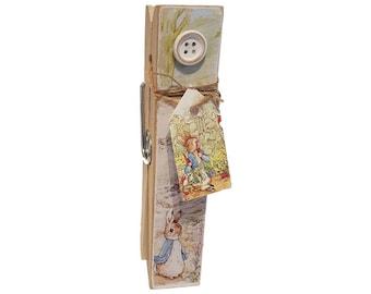 Beatrix Potter Peter Rabbit Decorative Peg Clothespin Memo Note Photo Holder Magnetic