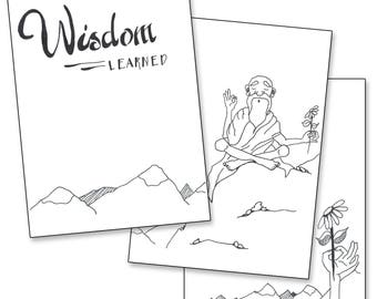 Wisdom Learned - Bullet Journal Printable Pages