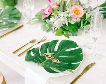 Palm Leaf Decoration, Luau Party theme, Tropical Party Theme, 12 pieces per package
