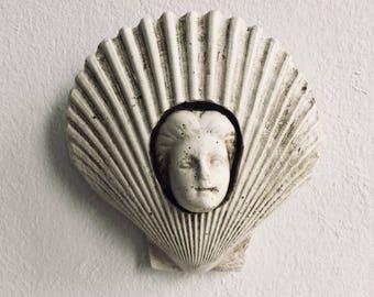 Seashell magnetic woman face