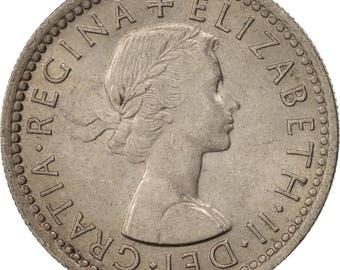 great britain elizabeth ii 6 pence 1954 ms(63) copper-nickel km903
