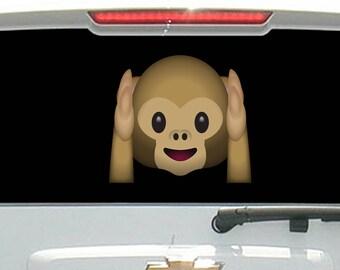 Monkey Hands on Head Hear No Evil Emoji