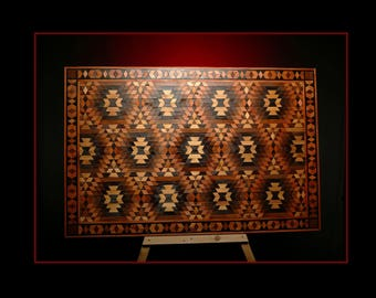 aztec patterns wood wall art