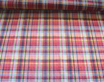 Fabric stretch crash QSU2033-017 in violet/orange/Yellow