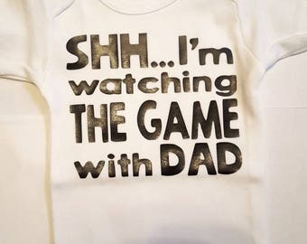 Watching the Game with Dad Bodysuit