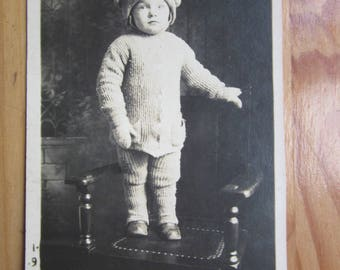 kid boy in fancy clothes  antique art cabinet photo portrait y 1915