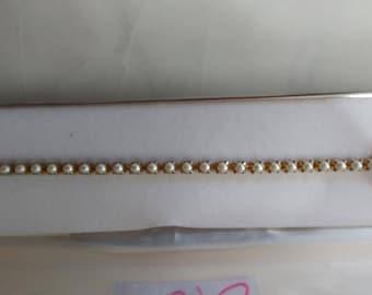Antique pearl bracelet