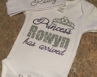 Princess Has Arrived Personalized Infant Homecoming Onesie