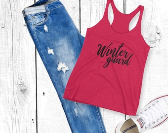 Winter Guard (Black Font) Women's Racerback Tank - Winterguard / Colorguard / Color Guard