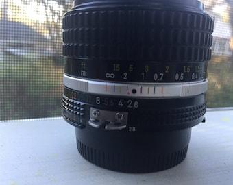 Nikkor 28mm f2.8 Manual Prime Lens.