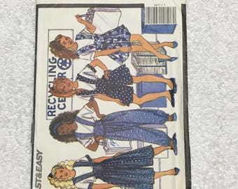 Busybodies By Butterick Girls Jumper Jumpsuit Sewing Pattern Vintage