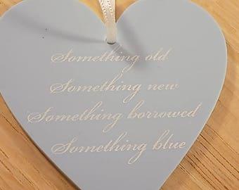 Something blue heart shaped keepsake
