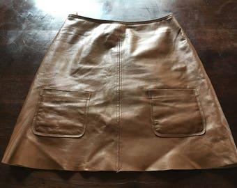 Leather skirt, leather skirt