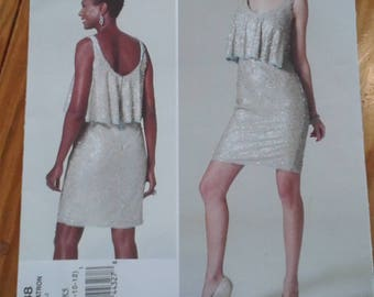 Badgley Mischka dress sewing pattern vogue platinum