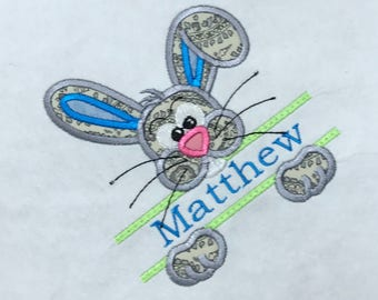 Easter  Applique Bunny With Name