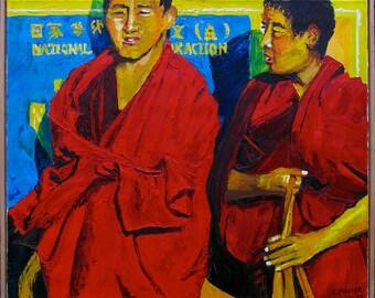 2 Monks Tibet