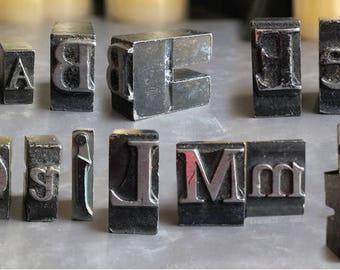 Type Blocks Letterpress Printing Press 13/16 Metal Letters
