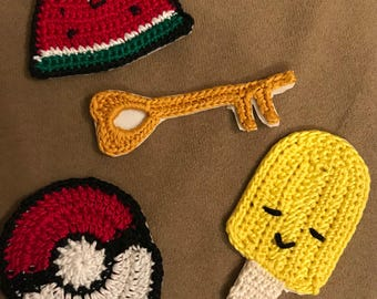 Crocheted patches