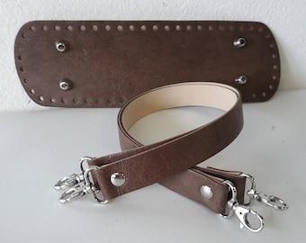 Bag Set real aged leather