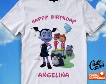 Vampirina Iron On Transfer, Vampirina Birthday Shirt DIY, Vampirina Shirt Design, Vampirina Printable, Vampirina, Digital Files