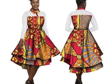Ankara wax dress