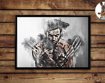 Wolverine print wall art home decor poster