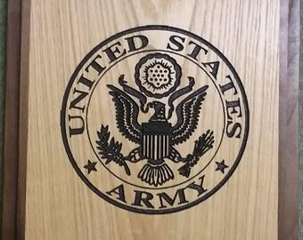 Custom Wood US Army Plaque