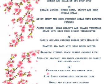 Personalized Wedding & Special Occasion Menu