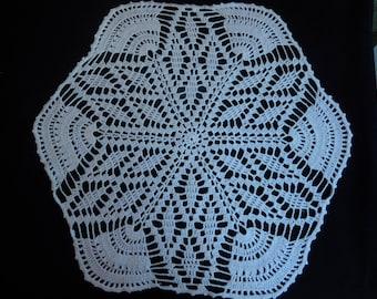 Vintage Handmade Crocheted Doily White