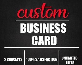 Custom business card design, business card, custom design, business card